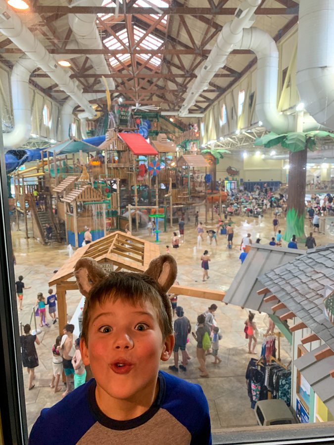 Mazen is excited for Great wolf lodge