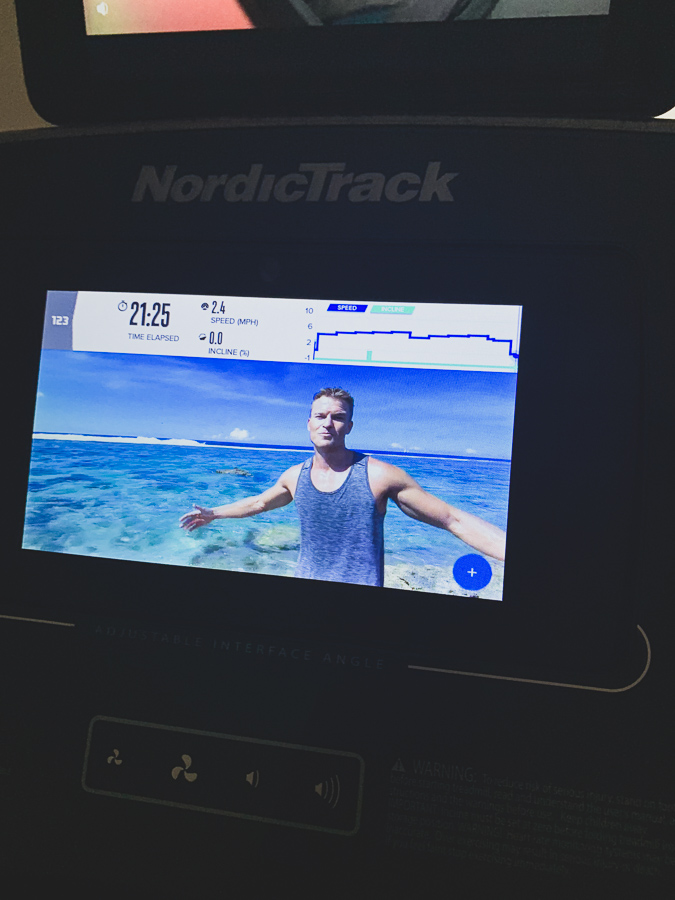 nordictrack 990 interface screen