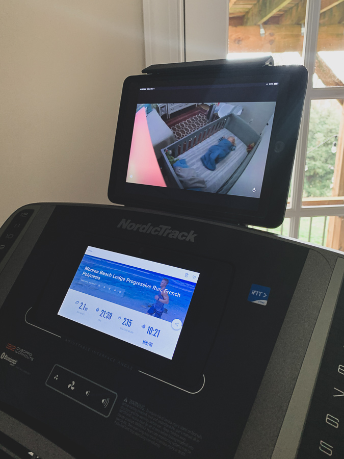 nordictrack 990 with baby monitor and screen on