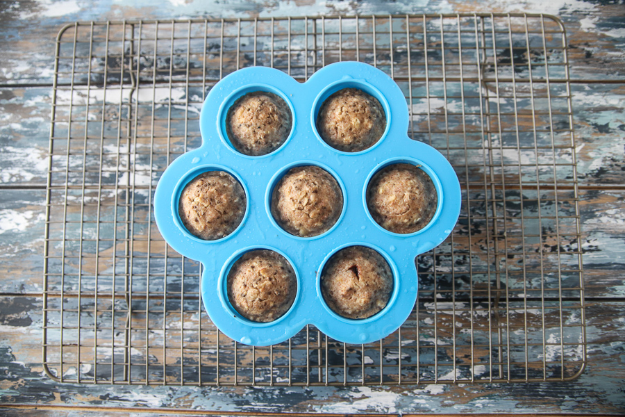 instant pot muffins in silicone mold