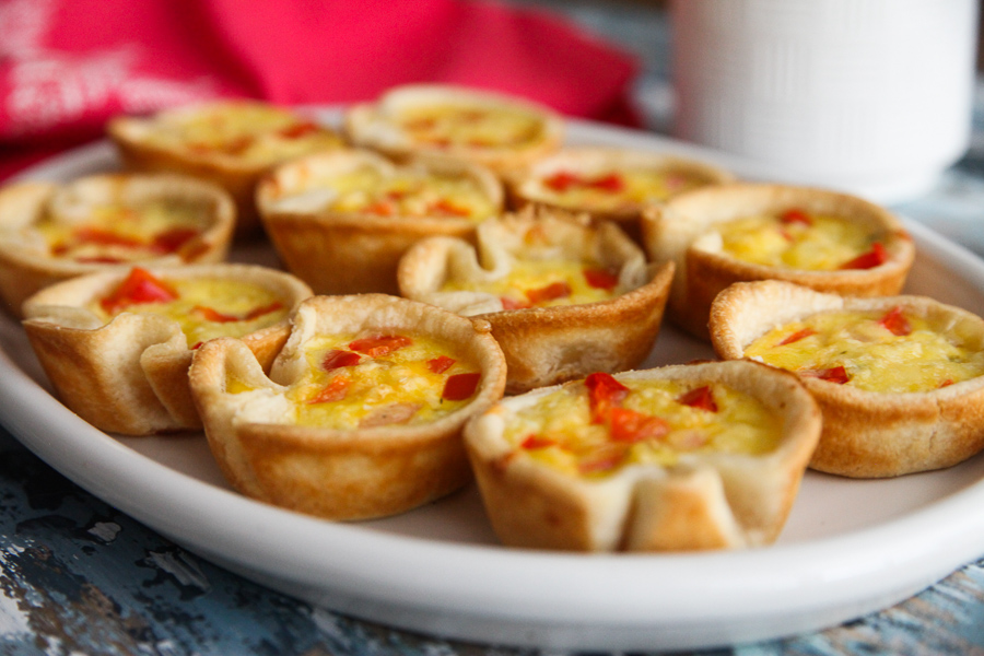 Mini Egg Pies with Pepper Jack and Peppers