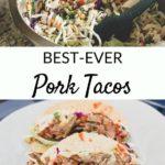 easy pork tacos graphic