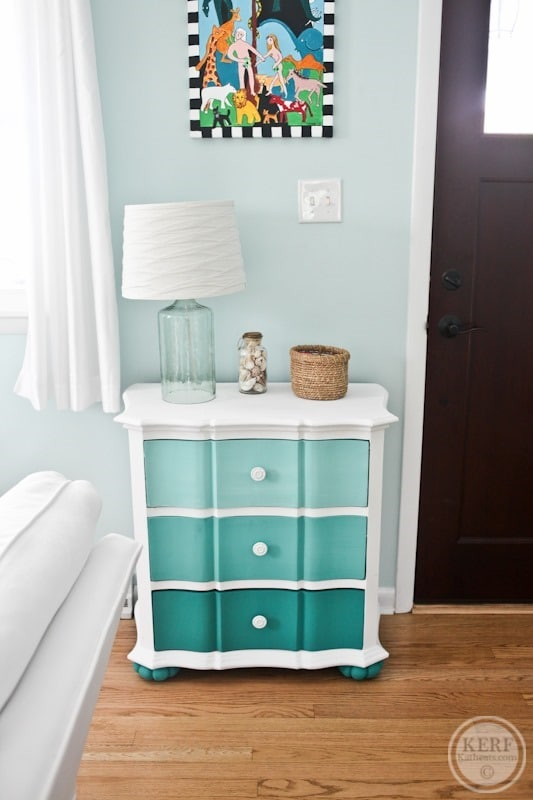 ombre drawers with chalk paint