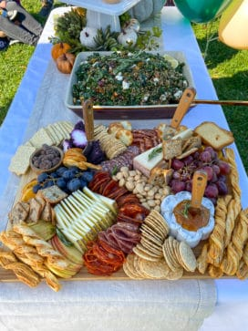 cheeseboard - first birthday at King Family Vineyards