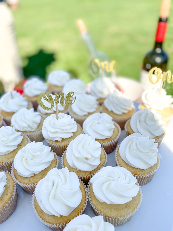 cupcakes - first birthday at King Family Vineyards