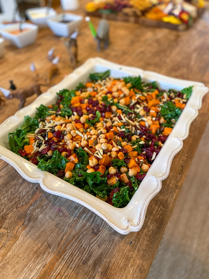 kale salad + report card dinner