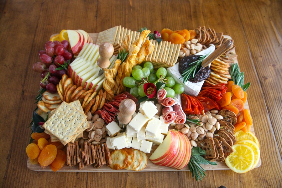Decorate your Thanksgiving Charcuterie Board with herbs