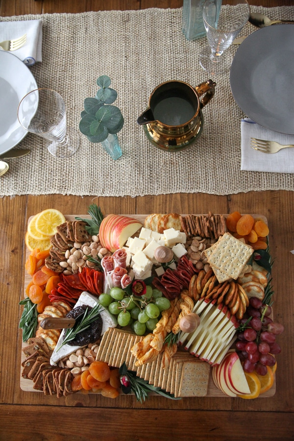 cheese board on dining table