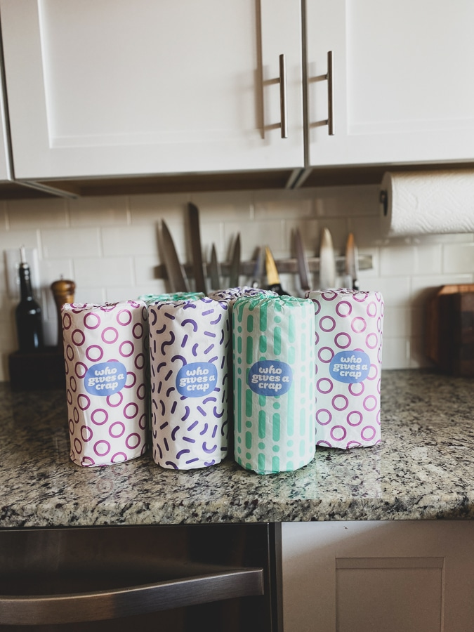 recycled toilet paper + paper towels