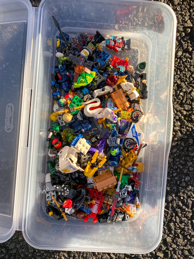 collection of Lego figurines