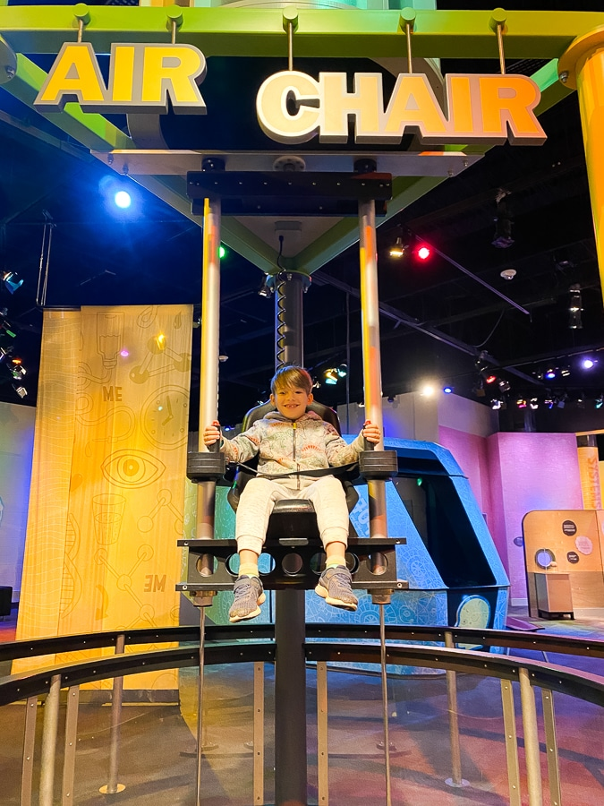 Discovery place museum charlotte nc air chair