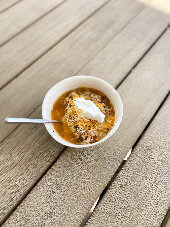Chili in the morning, chili in the evenin', chili at supper time
