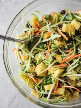 Toss together the tropical bean salad