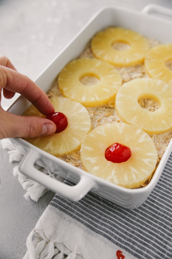 pineapple upside-down baked oatmeal