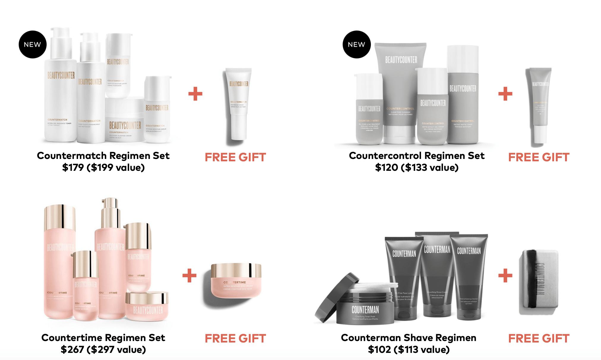 beautycounter skincare regimens