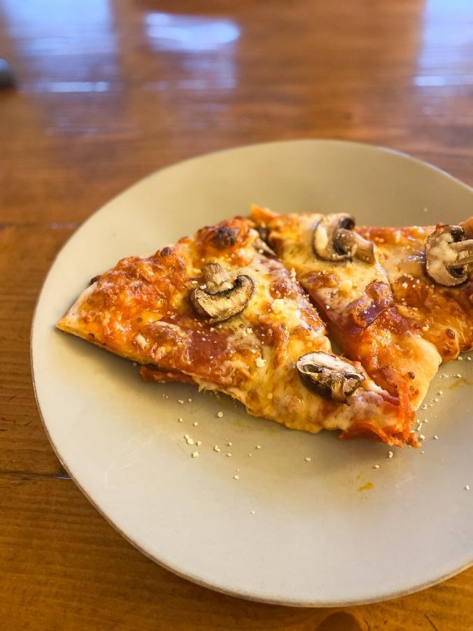 homemade pizza dinner!