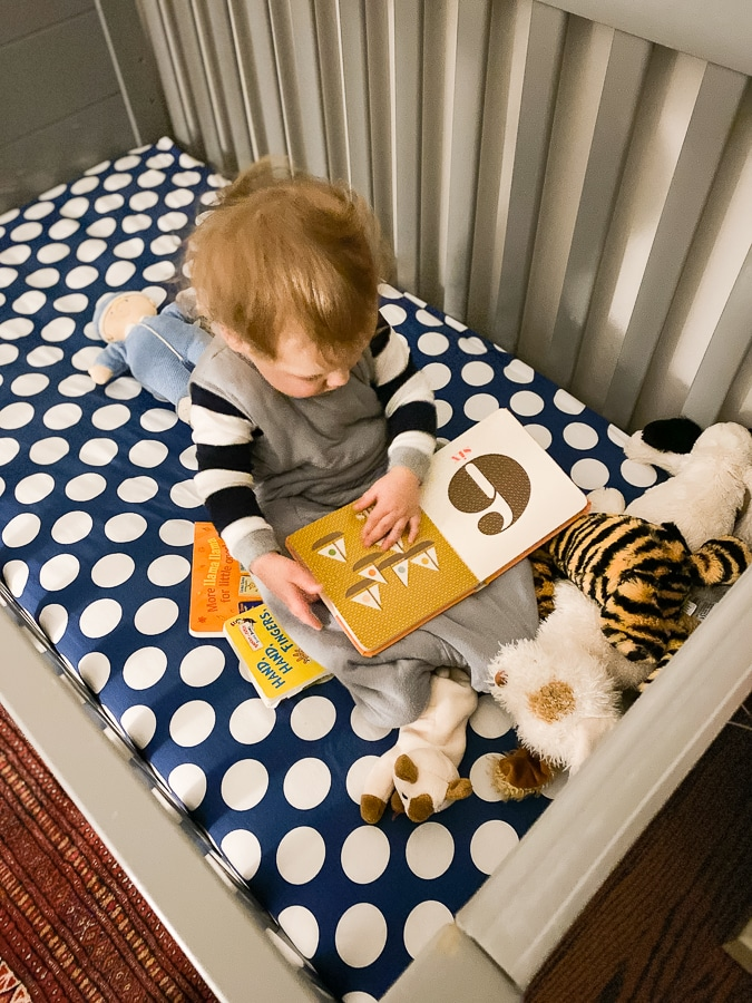 literacy at home in crib