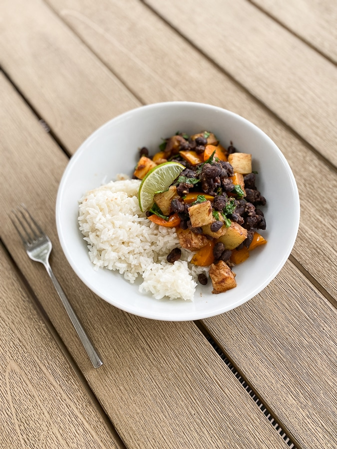 Beans + rice and what we've been eating