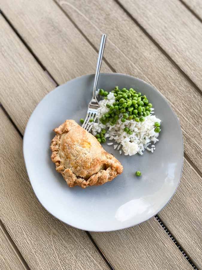 Pie Chest - pot pies with couscous salad