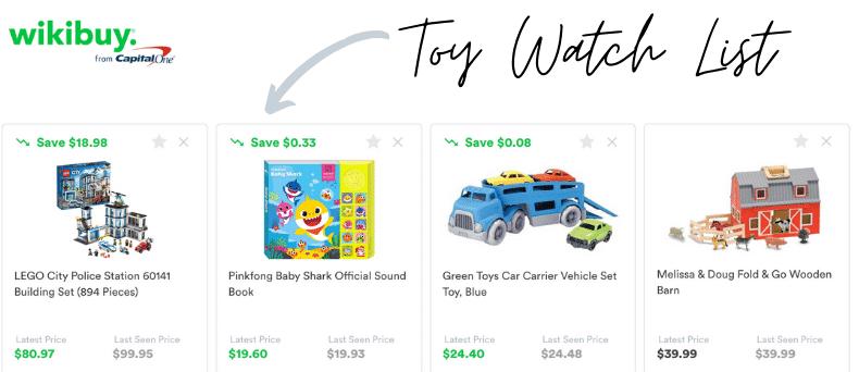 Wikibuy toy watch list