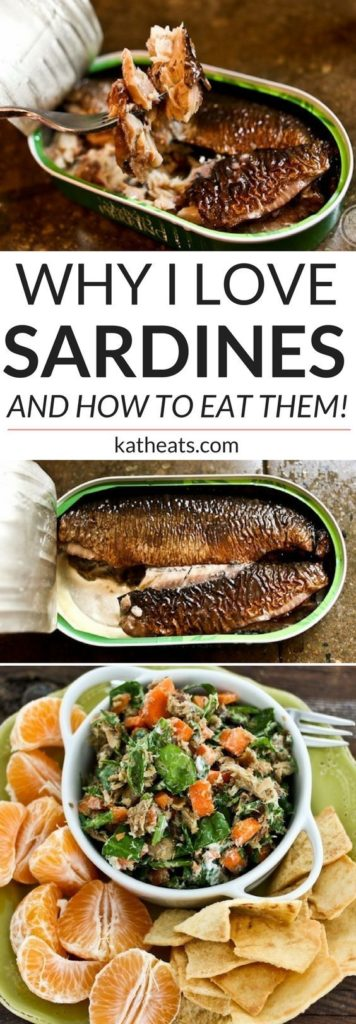 why I love sardines graphic with sardines in a tin
