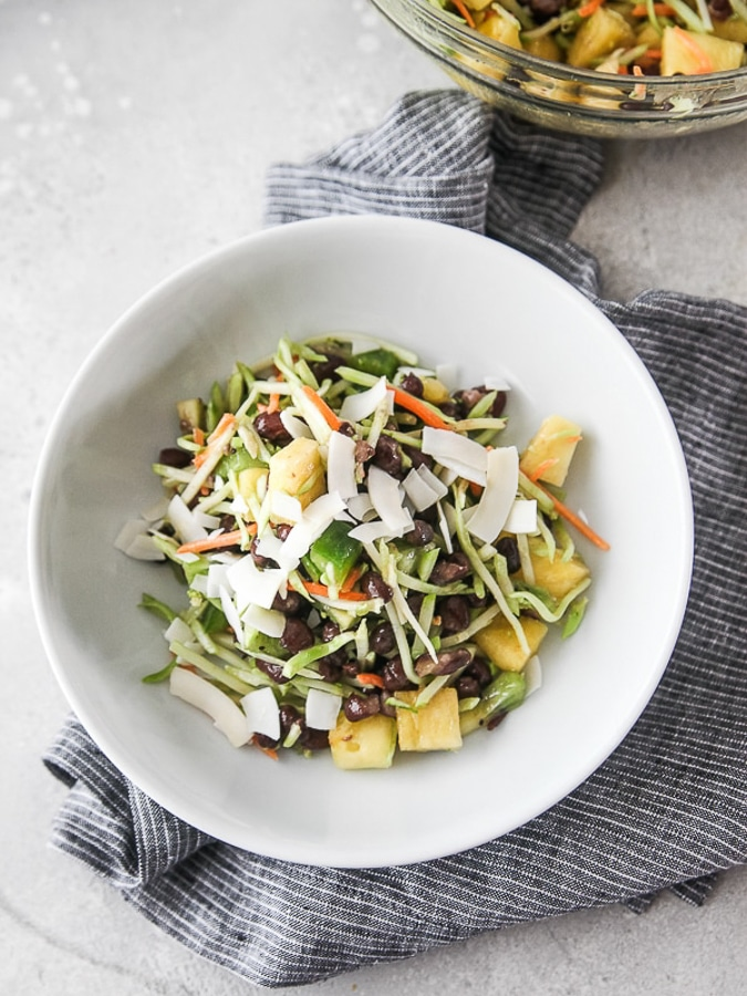 tropical bean salad