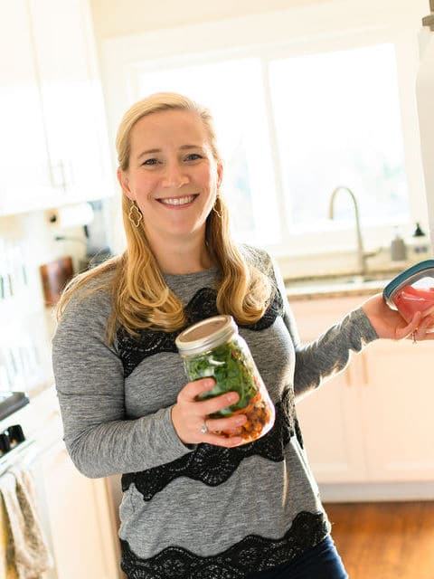 kath with salad jar