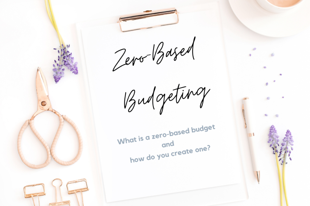 Clipboard with zero based budgeting todo list