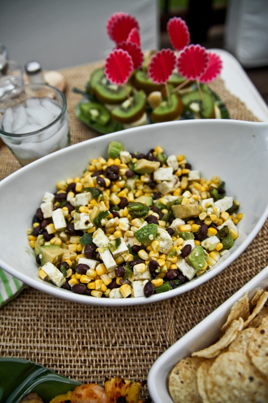 bean and corn dip