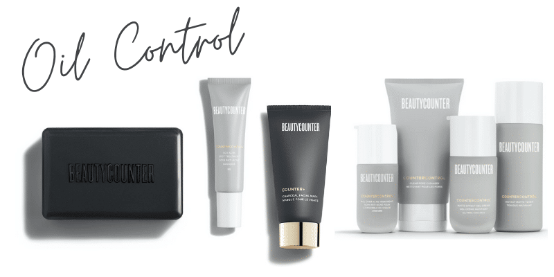 Beautycounter products for oil control