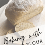 loaf of spelt flour with text