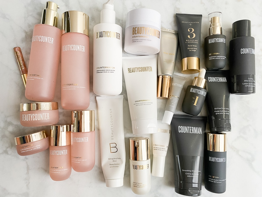 beautycounter regimen products in a rainbow of color