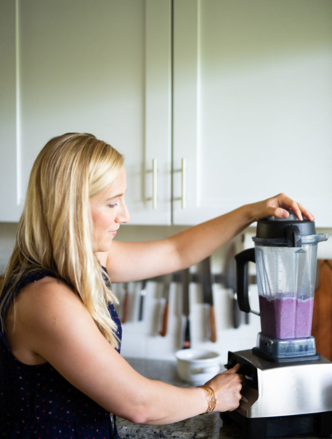 Kath with a blender