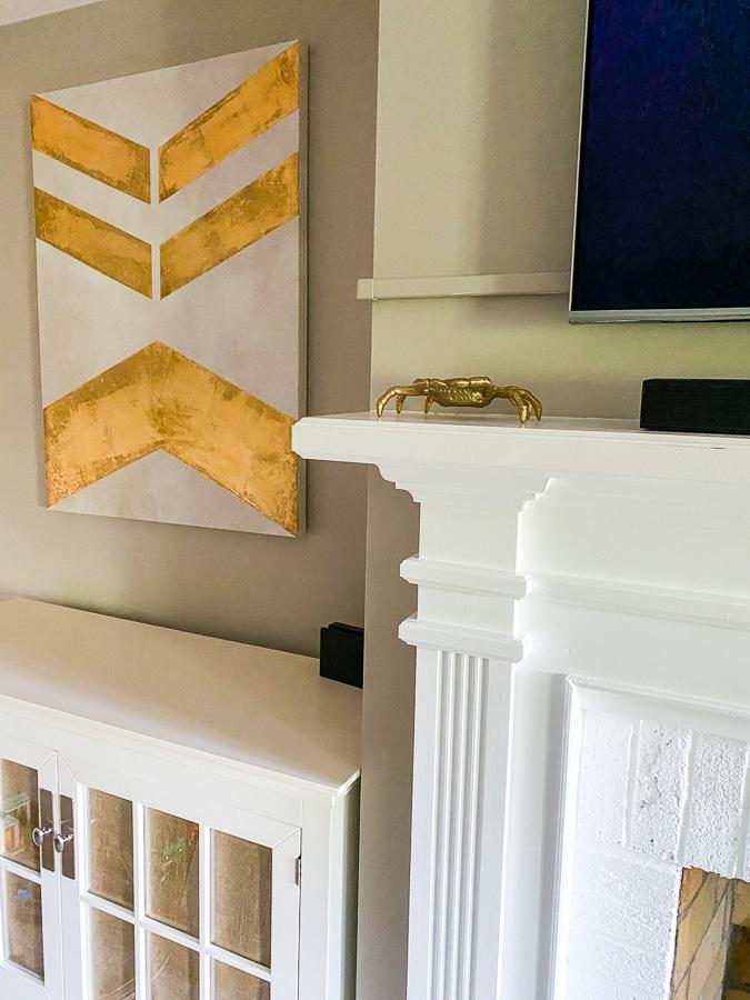 gold chevron print