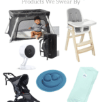 baby gear collage