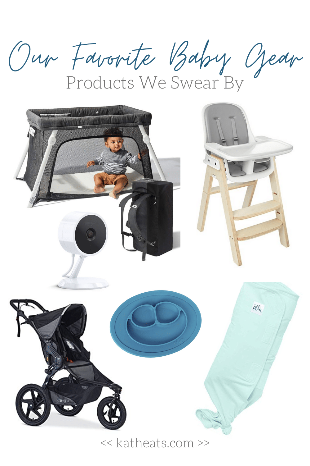 Collage of Must-Have Baby Gear