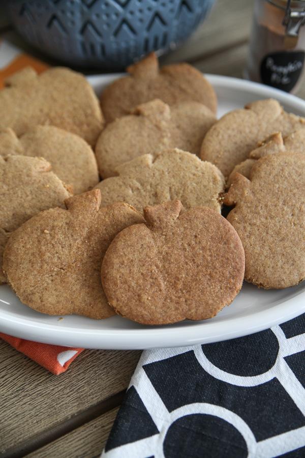 plate of pumpkin grahams