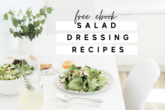 salad dressing recipes graphic