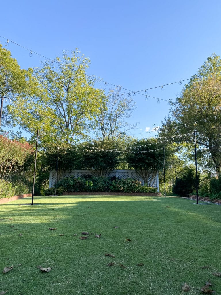 garden wedding location at the clifton
