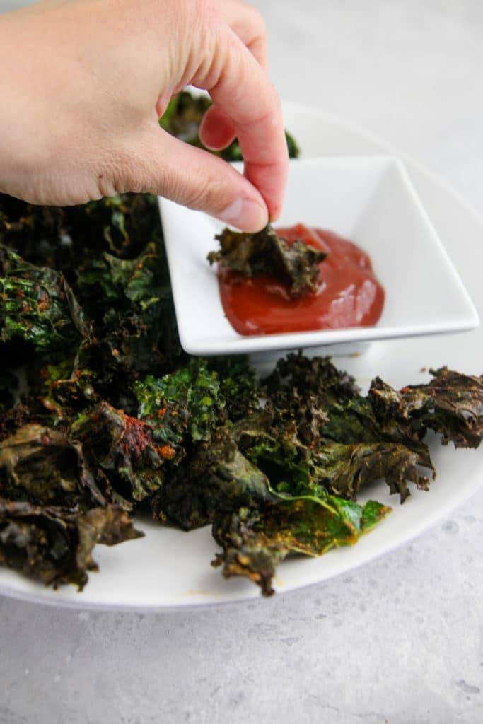 kale chips in ketchup