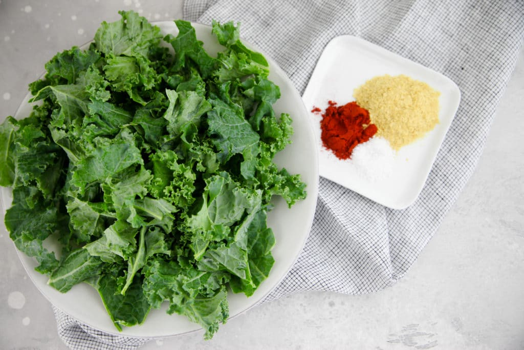 kale with spices