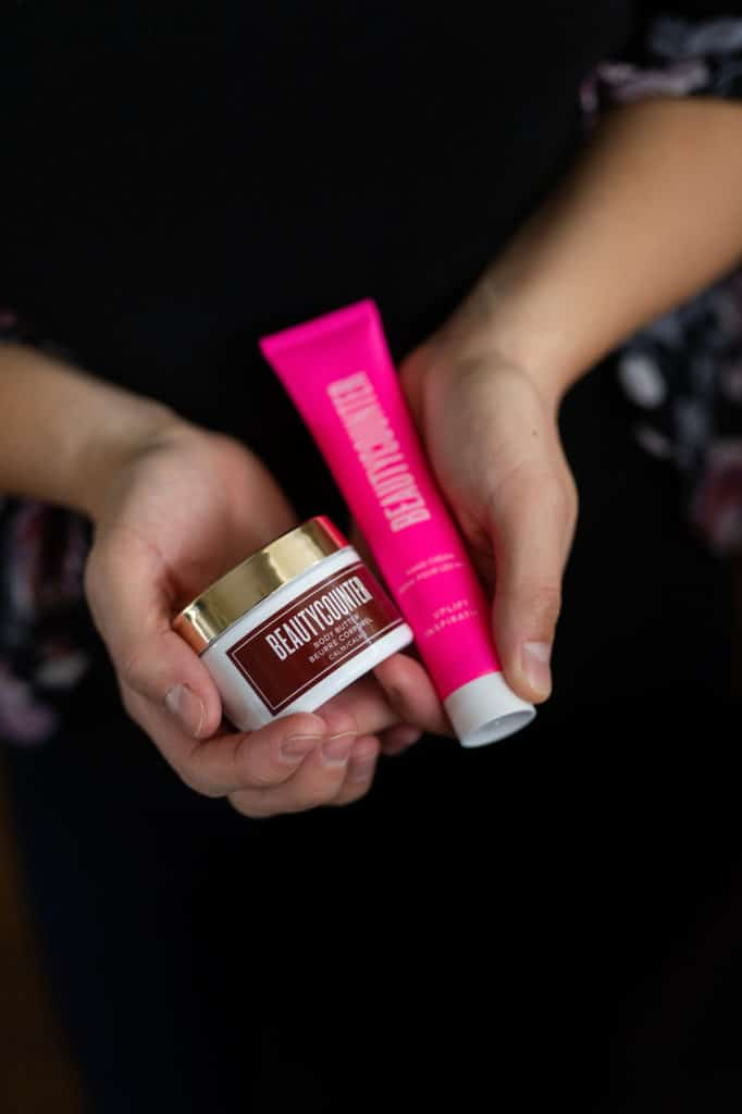 hand cream and body butter in hands