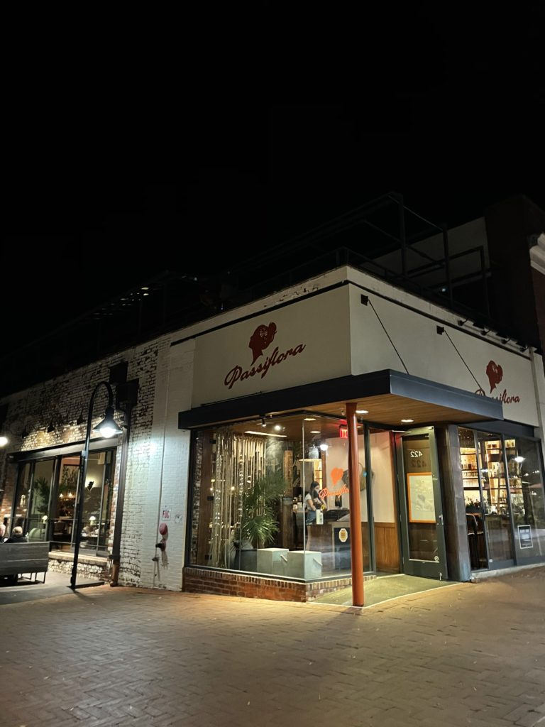 exterior of Passiflora in Charlottesville