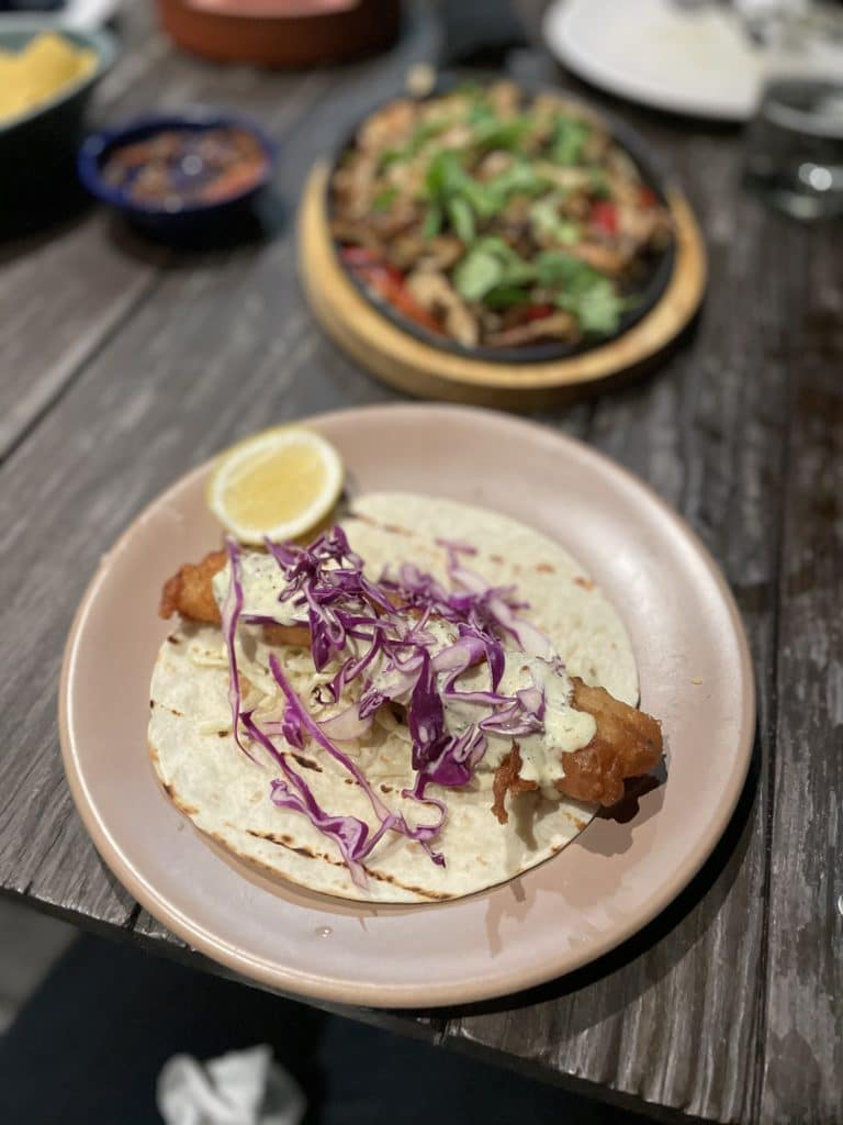 Fish taco from Passiflora in Charlottesville