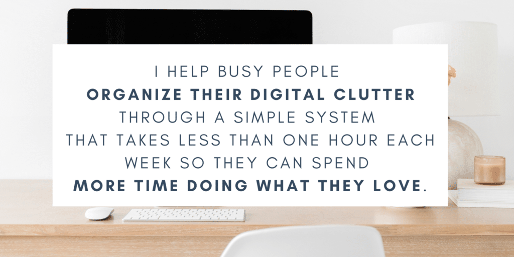 graphic about organizing digital clutter