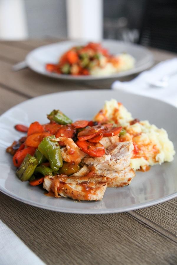 Blue Apron chicken dinner