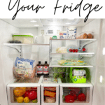 Graphic for organized fridge