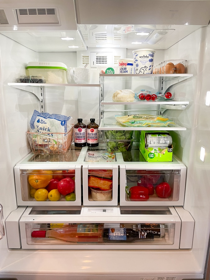 an organized fridge