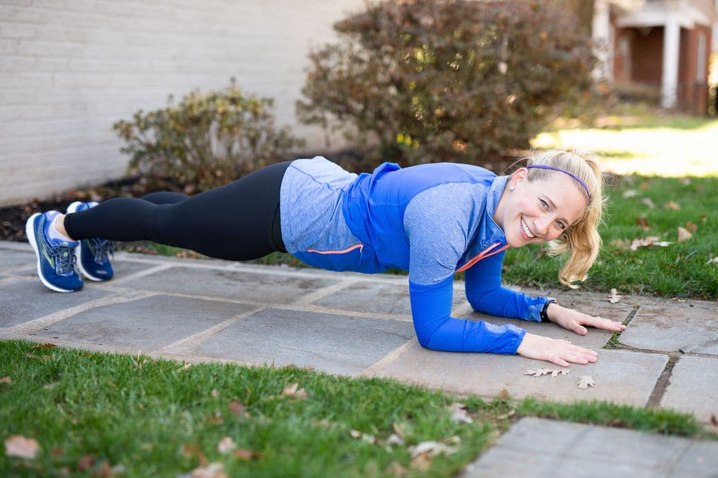 Kath doing a plank