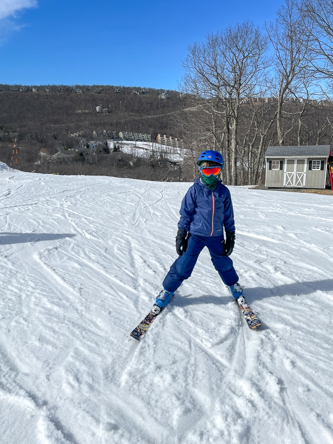 Mazen skiing on our day trip to Wintergreen